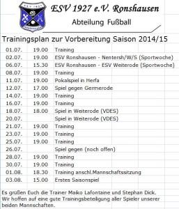 Trainingsplan 2014_15